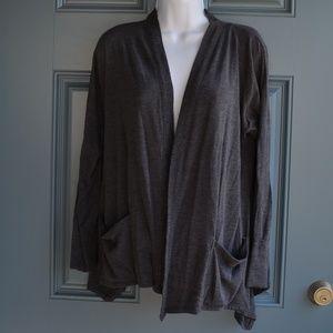 Charcoal Grey Open Cardigan by Sweet Pea Sz. Md.